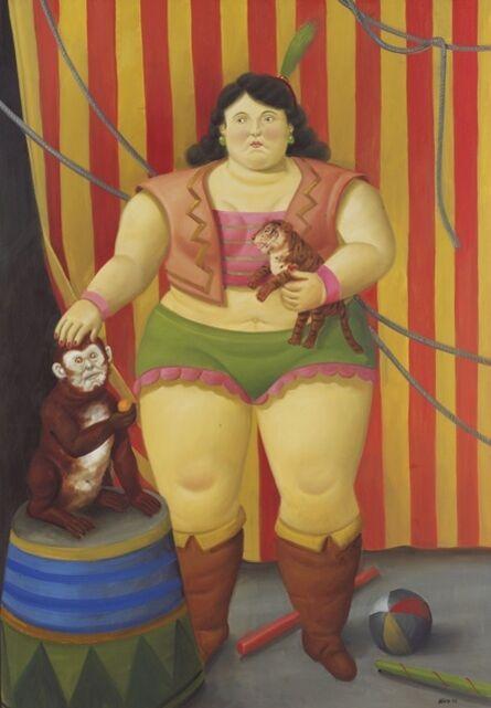 Fernando Botero, 'Circus Girl with Pet ', 2008