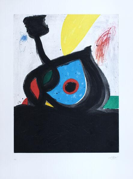 Joan Miró, ' L'Oeil bleu du volcan (1238)', 1981