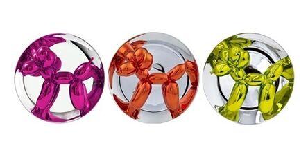 Jeff Koons, 'Balloon Dogs (Magenta, Yellow, Orange) Set of 3', 2015