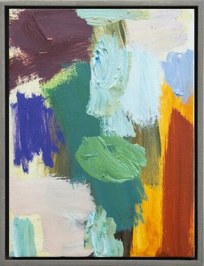 Scott Pattinson, 'Kairoi No 25 - small, red, yellow, green, blue, gestural abstract, oil on canvas', 2016