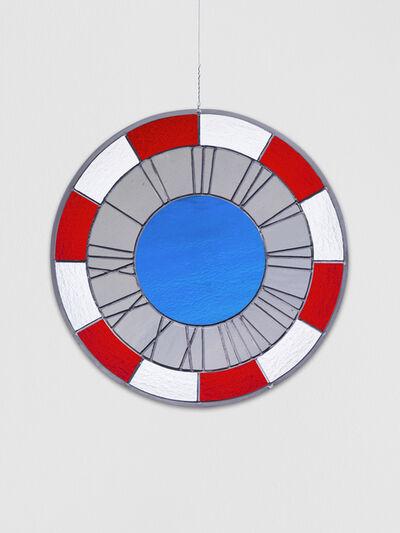 Ugo Rondinone, 'red grey blue clock', 2012