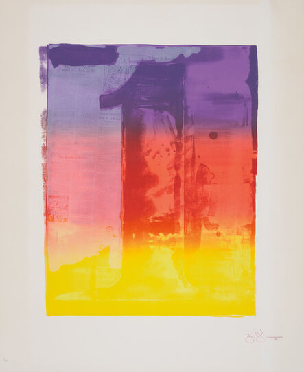 Jasper Johns, 'Figure 1, from Color Numerals Series', 1969