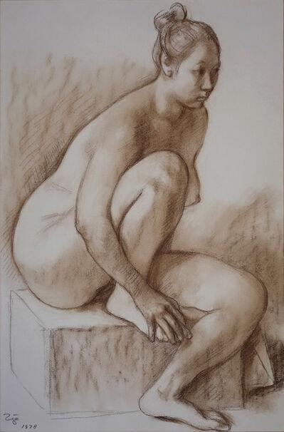 Francisco Zúñiga, 'Desnudo Sentado', 1978
