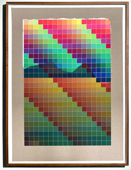 Analía Saban, 'Transcending Pigment from Paint to Canvas, from Canvas to Paint (Color) #1 No. IV', 2020