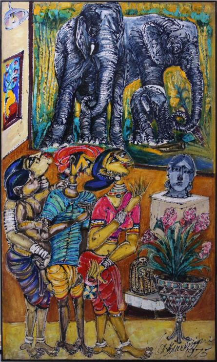 M Suriyamoorthy, 'My Elephants in the Museum', 1975