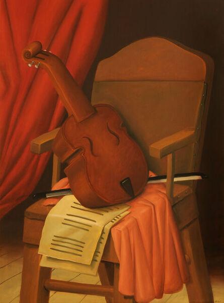 Fernando Botero, 'Violin on chair', 2005