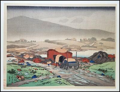 Goyo Hashiguchi, 'Rain at Yabakei Valley', 1918