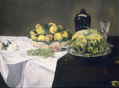 Édouard Manet, 'Still Life with Melon and Peaches', ca. 1866