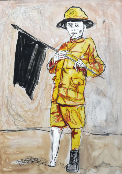 Farley Aguilar, 'Boy with Flag', 2016