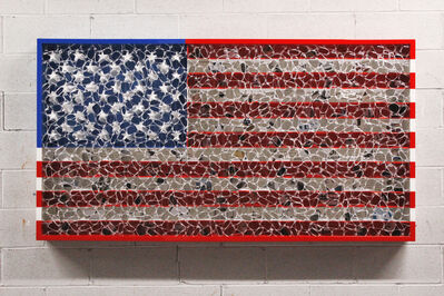 David Datuna, 'USA Color Flag', 2019