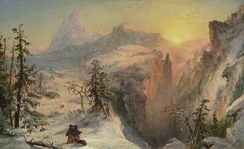 Jasper Francis Cropsey, 'Winter', 1860