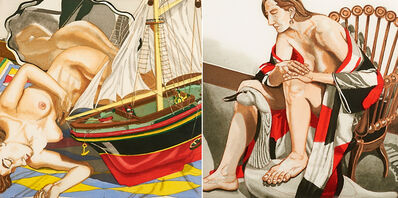 Philip Pearlstein, 'Two works of art: Model Boat; Hunzinger Chair and Wooden Swan'
