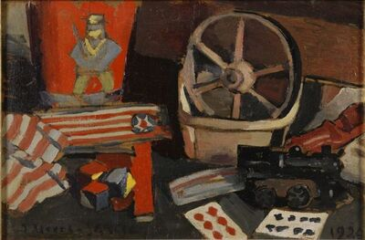 Joaquín Torres-García, 'Los Juguetes, New York', 1920
