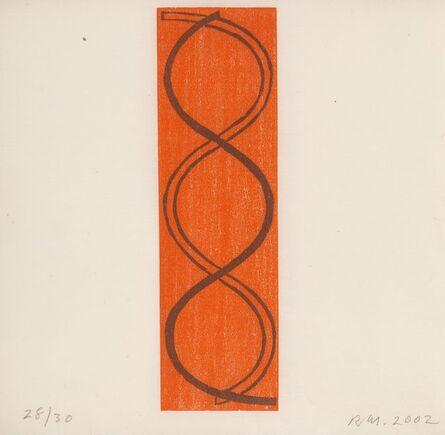 Robert Mangold (b.1937), 'Holiday Column Woodcut', 2002