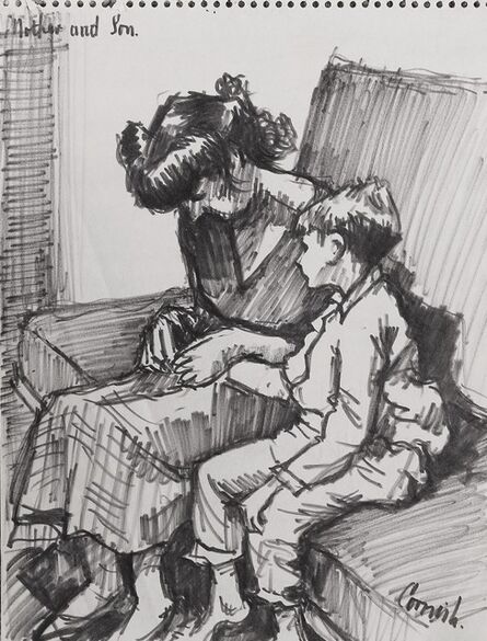 Norman Cornish, 'Mother and son (artist's family)', ca. 1960