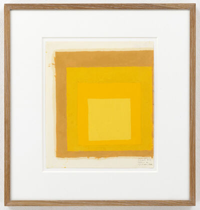 """Josef Albers, 'Color Study for """"Homage to the Square""""', unknown"""