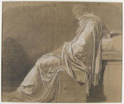 """Jacques-Louis David, 'Étude pour la figure de Platon dans """"La Mort de Socrate"""" (Study for the figure of Plato in """"The Death of Socrates"""")'"""