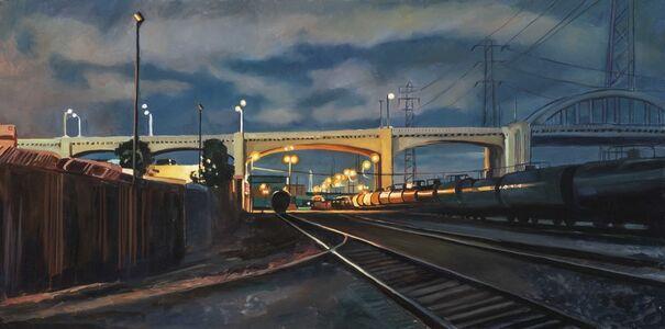 Patricia Chidlaw, 'Tankcars, Sixth St Viaduct', 2021