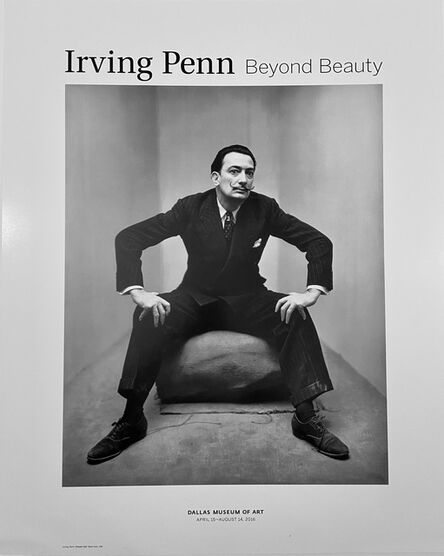 Irving Penn, 'Rare Salvador Dali- Irving Penn High Quality Black and White Portrait Photographic Museum Exhibition Poster   ', 2016