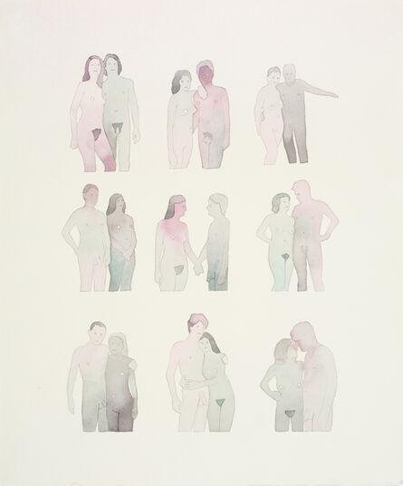 Dan Gluibizzi, 'Nine Nudist Couples ', 2011