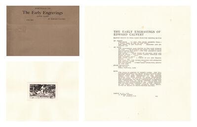 Edward Calvert, 'The Carfax Portfolio', Published 1904