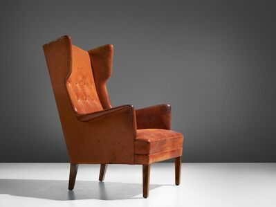 Frits Henningsen, 'Wingback Easy Chair in Cognac Leather', 1950s