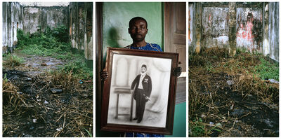 Leonce Raphael Agbodjelou, 'Untitled Triptych (Code Noir)', 2014