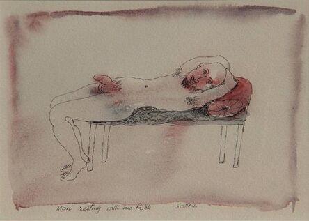 Tasaduq Sohail, 'Man resting with his Prick', Undated