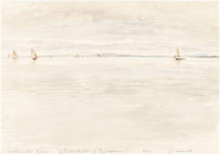 John Linnell, 'Sailboats on Southampton River', 1819