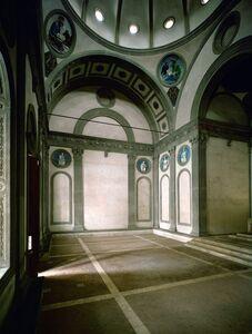 Filippo Brunelleschi, 'Basilica of San Croce (interior view of the Pazzi Chapel)', 1294-1385
