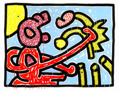 Keith Haring, 'Flowers No. 1', 1990