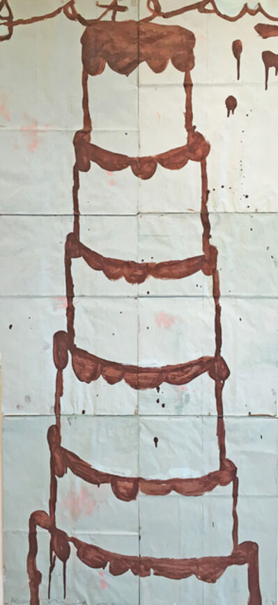 Gary Komarin, 'Cake (Brown on Mint Green) ', 2012