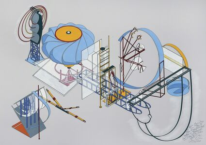 """Alice Aycock, 'Hoodo (Laura) from the Series """"How to Catch and Manufacture Ghosts"""" - Vertical and Horizontal Cross-section of the Ether Wind (1981)', 1990/2012"""