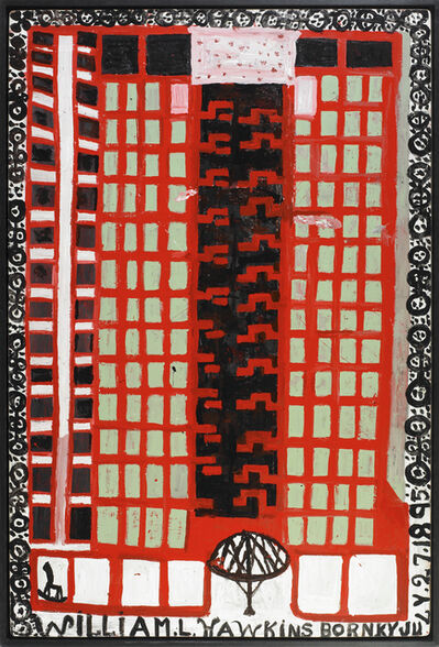 William Hawkins, 'Huntington Bank with Parachutist', 1987