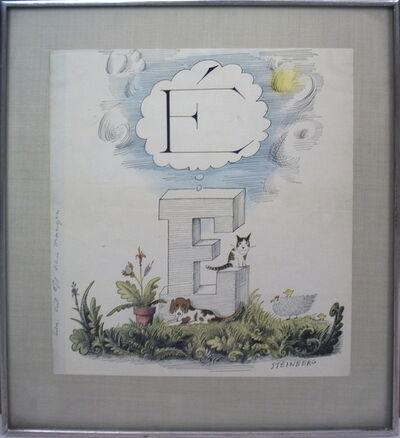 Saul Steinberg, 'The Dream of E', 1972