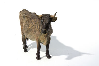 Joe Fafard, 'Ernestine AP II - small, bronze, cow, animal, sculpture, 2006', 2006