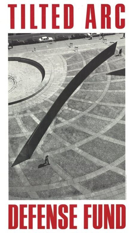 Richard Serra, 'Tilted Arc Defense Fund', 1985