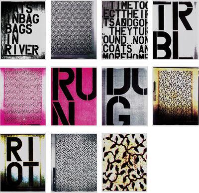 Christopher Wool, 'Portfolio of Eleven Color Laser Copies', 1990