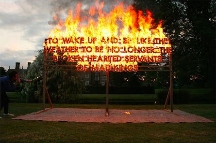 Robert Montgomery, 'Great Fosters Fire Poem', 2013