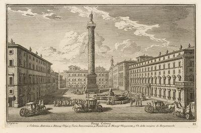 Giuseppe Vasi, 'Piazza Colonna', 1747