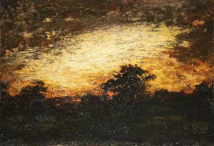 Ralph Albert Blakelock, 'Landscape Silhouette at Twilight', Late 19th century