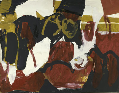 Charlotte Park, 'Untitled (Black, White, Red, and Brown II)', ca. 1955