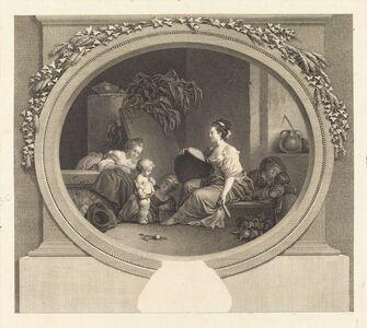 Nicolas Delaunay after Jean-Honoré Fragonard, 'Dites donc s'il vous plait', probably 1782