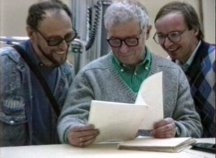 Vadim Zakharov, 'Dmitri Prigov, Ilya Kabakov, and Andrei Erofeev at the opening of In the USSR and Beyond. Seventy-Seven Russian Artists. 1970–1990 at Stedelijk Museum in Amsterdam, September 22, 1990', 1990
