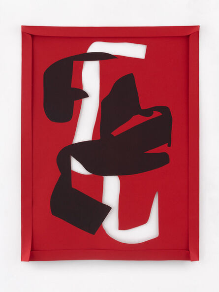 Arturo Herrera, 'Untitled (Black on red)', 2021