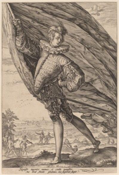 Hendrik Goltzius, 'The Great Standard Bearer', 1587