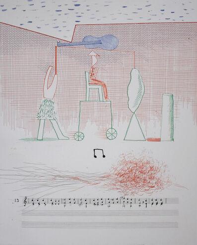 David Hockney, 'Parade, from: The Blue Guitar', 1976