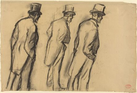 Edgar Degas, 'Three Studies of Ludovic Halévy Standing', ca. 1880