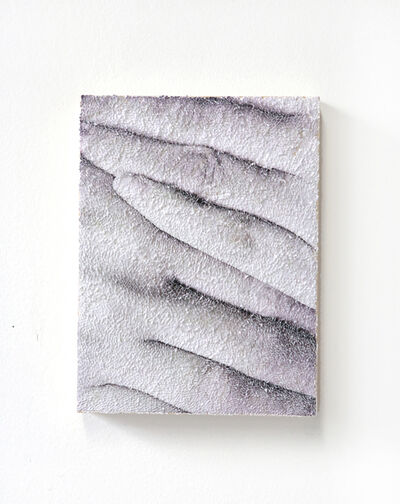 Keun Young Park, 'Hide 1 - micro-collage, torn and pasted photo of hands on wood panel', 2020