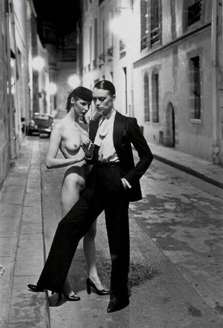 Helmut Newton, 'Rue Aubriot with Nude, Parisian Street 1975', 1975